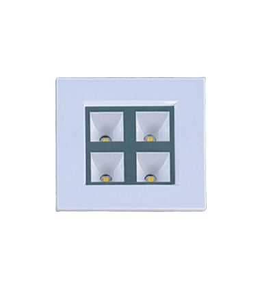 Embutido Quadrado Branco Super Led 4x1W