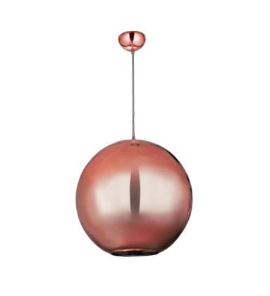 Luminária Pendente Globo Espelhado Bronze Bivolt