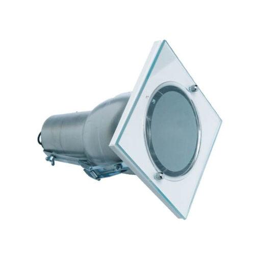 Plafon de Embutir Quadrado Com Vidro D-110 mm  Bivolt
