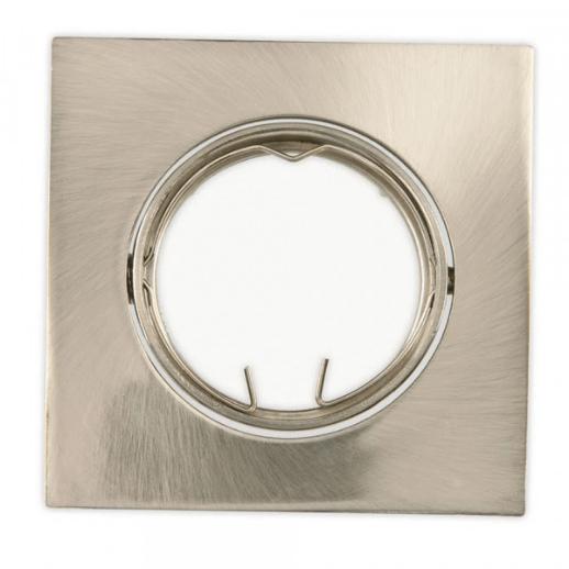 Spot de Alumínio Escovado Quadrado de Embutir  Bivolt