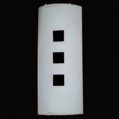 Arandela de Vidro Com Detalhe  E-27