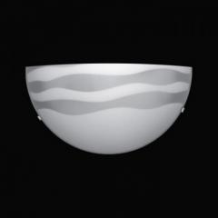 Arandela Meia Lua Desenho Listra com Garras de Acrílico