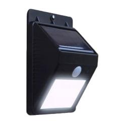 Arandela Recarregável Com Sensor Solar De Parede Externa