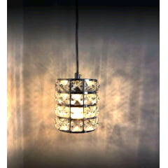 Pendente Luminária  Cristal k9 Led g9 Redondo Bivolt