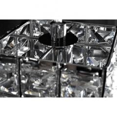 Pendente Luminária  Cristal k9 Led g9 Quadrado Bivolt