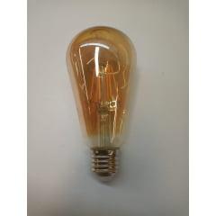 Luminária Pendente Retrô Aramado Bronze Lampada Led Filamento