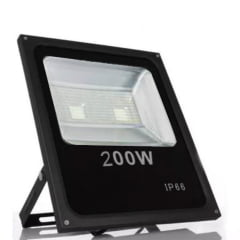 Refletor Led  Smd  Slim  200w 6000k