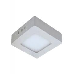 Plafon Sobrepor Quadrado Em Alumínio  Branco com Led 6w