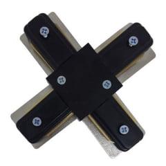 Emenda Luminaria Trilho Eletrificado - Conector X Bivolt