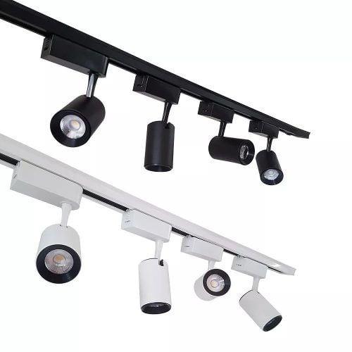 Trilho Eletrificado Luminária 1m Branco ou Preto Bivolt